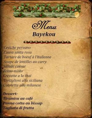 Sample daily menu
