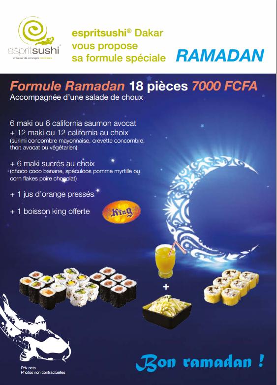 FORMULE RAMADAN 2015